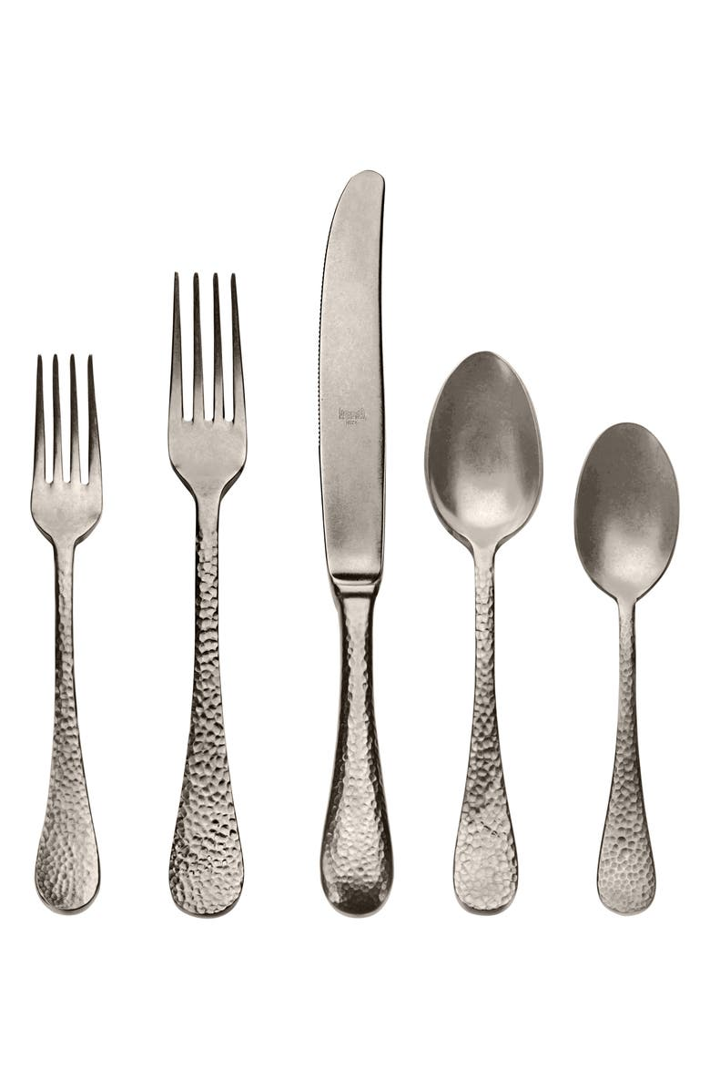 MEPRA Epoque Distressed Champagne 5-Piece Place Setting, Main, color, DISTRESSED STAINLESS CHAMPAGNE
