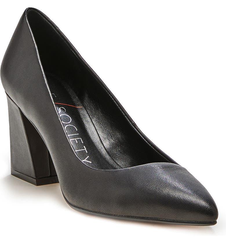SOLE SOCIETY Capra Pointed Toe Pump, Main, color, 001