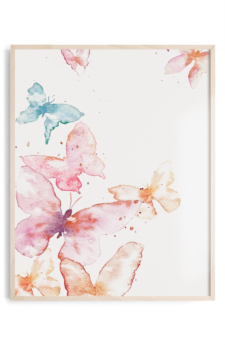 OILO Butterfly Paper Wall Art, Main, color, BUTTERFLY