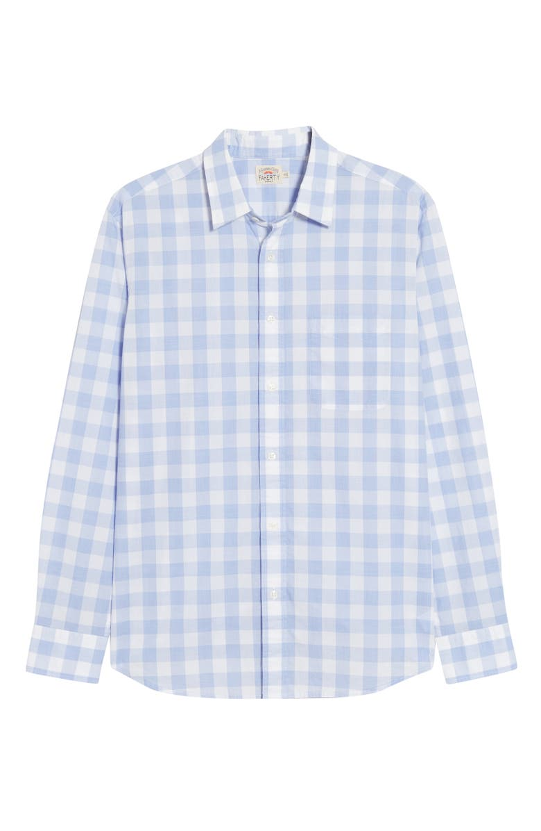 FAHERTY BRAND Everyday Check Print Shirt, Main, color, LAVENDER GINGHAM