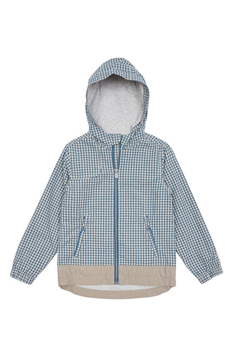 PEEK AREN'T YOU CURIOUS Beaux Hooded Zip Jacket, Main, color, CHECK