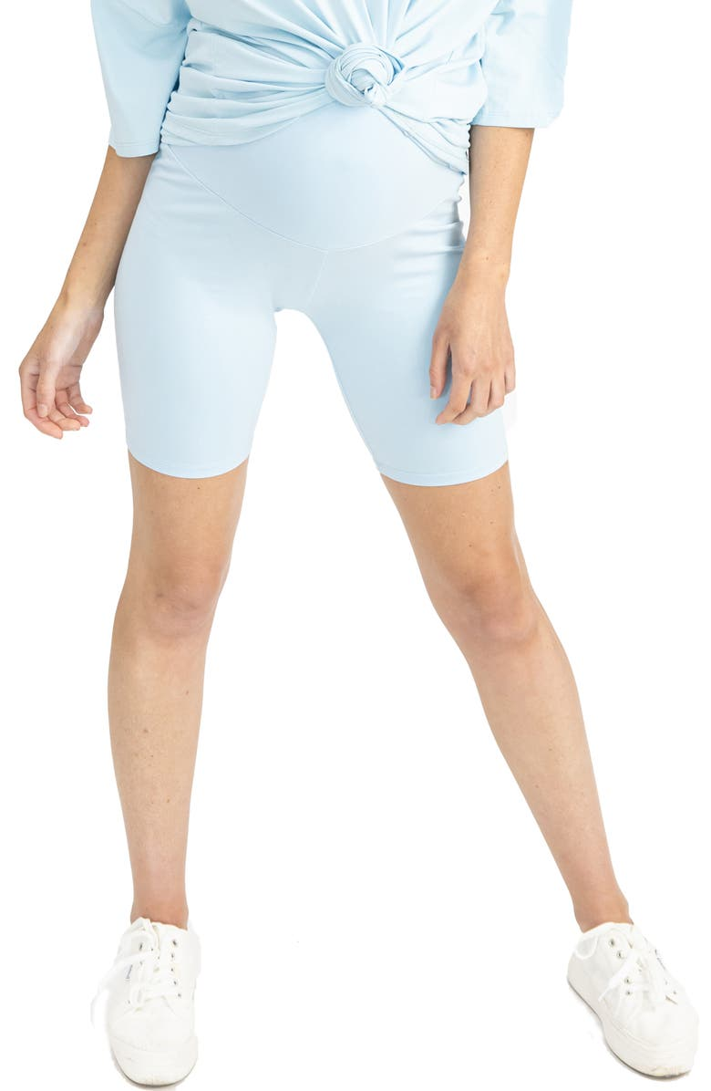 ANGEL MATERNITY 2-Pack Maternity Bike Shorts, Main, color, BLUE