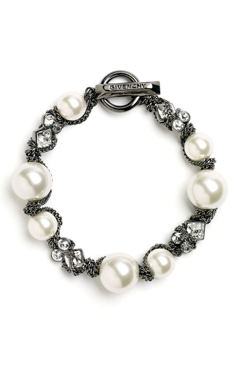 GIVENCHY Small Faux Pearl Bracelet, Main, color, 020