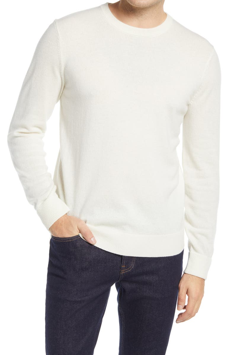 EVERLANE Crewneck Cashmere Sweater, Main, color, LODEN