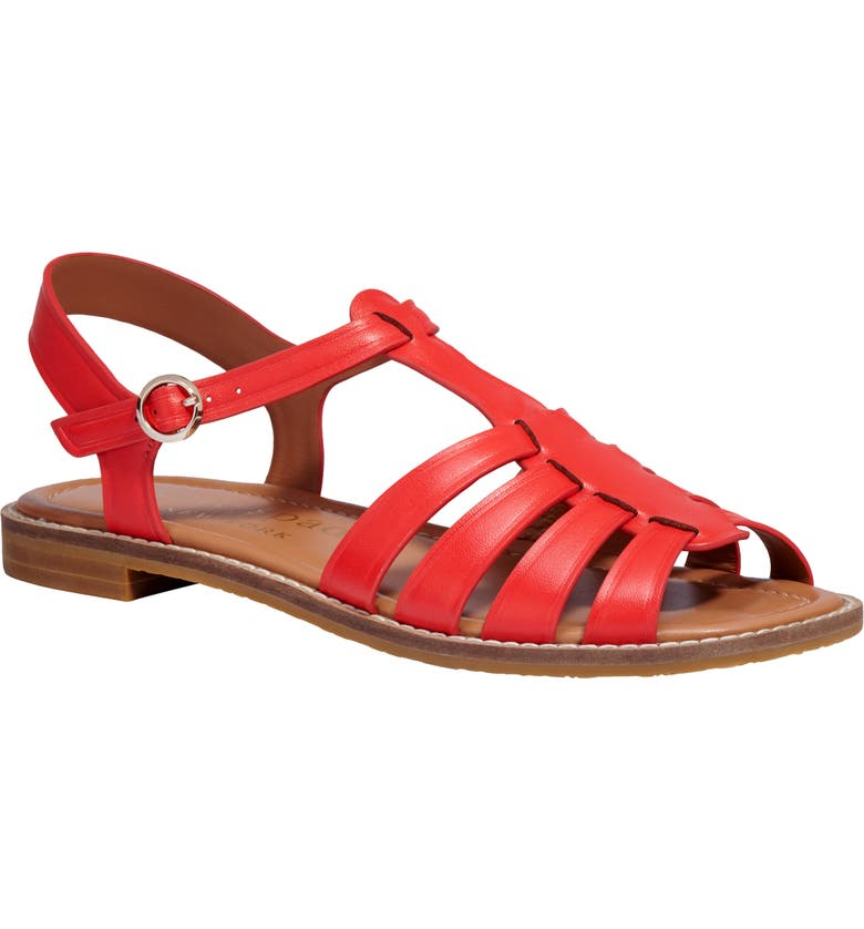 KATE SPADE NEW YORK wonder strappy sandal, Main, color, CORAL ROSE LEATHER