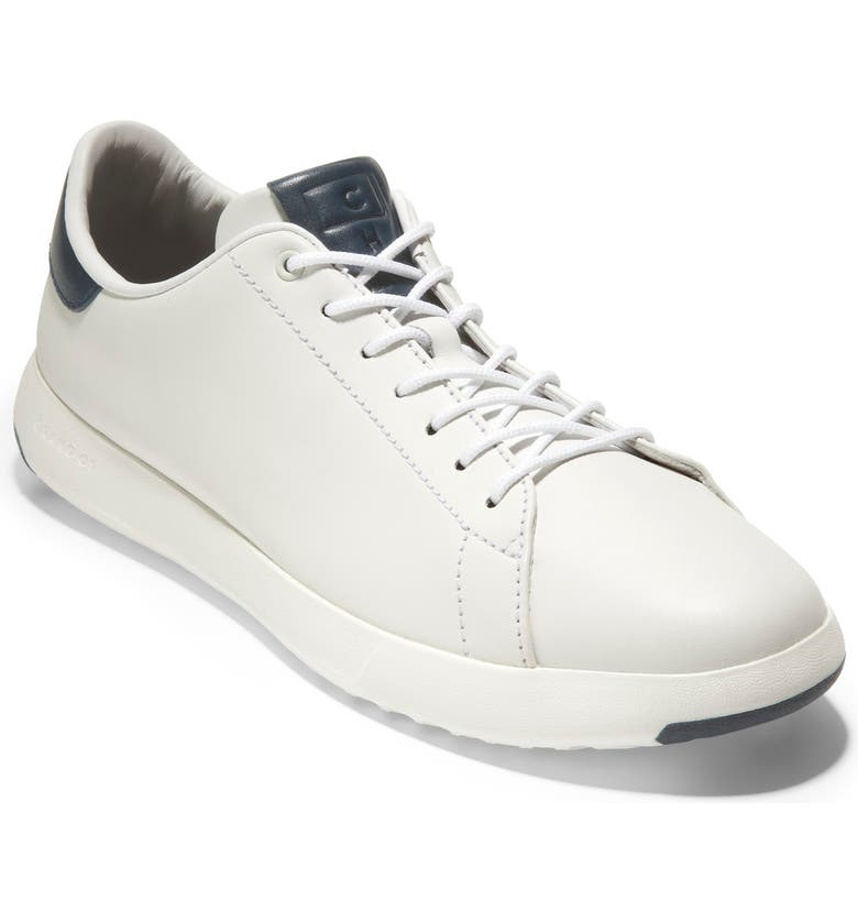 COLE HAAN GrandPro Low Top Sneaker, Main, color, WHITE / NAVY INK