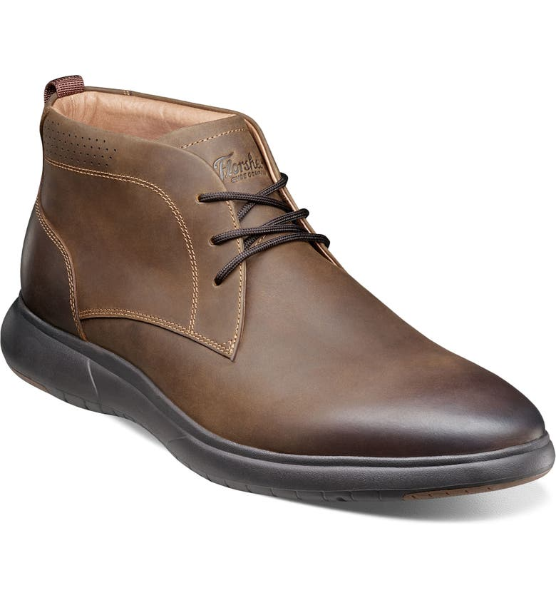 FLORSHEIM Flair Chukka Boot, Main, color, BROWN CRAZY HORSE
