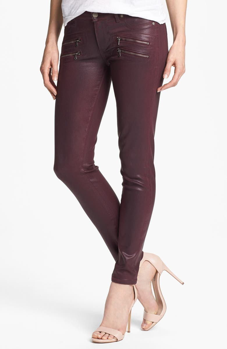 PAIGE Denim 'Edgemont' Coated Ultra Skinny Jeans, Main, color, 501