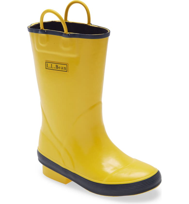 L.L.BEAN Kids' Puddle Stompers Rain Boot, Main, color, BRIGHT YELLOW
