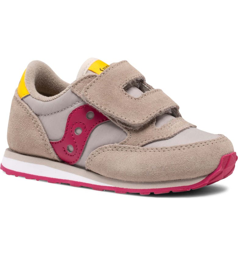SAUCONY Jazz Sneaker, Main, color, TAUPE/ BURGUNDY