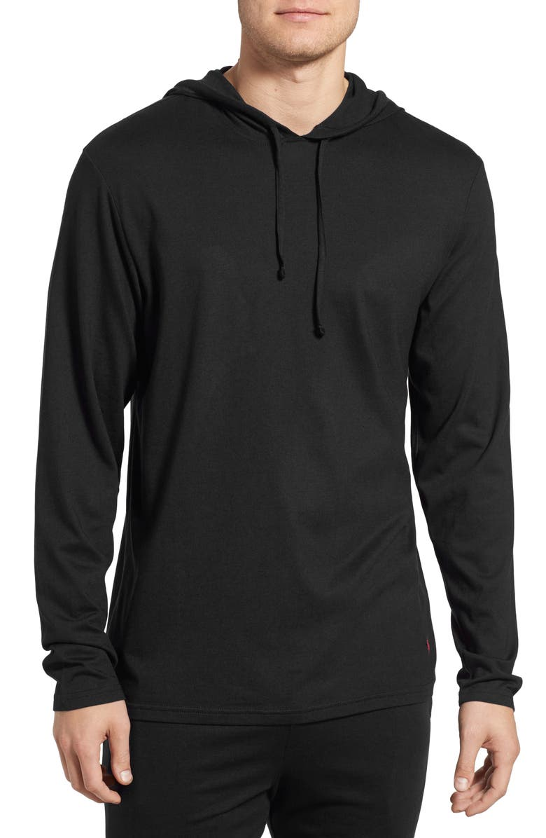 POLO RALPH LAUREN Pullover Hoodie, Main, color, POLO BLACK