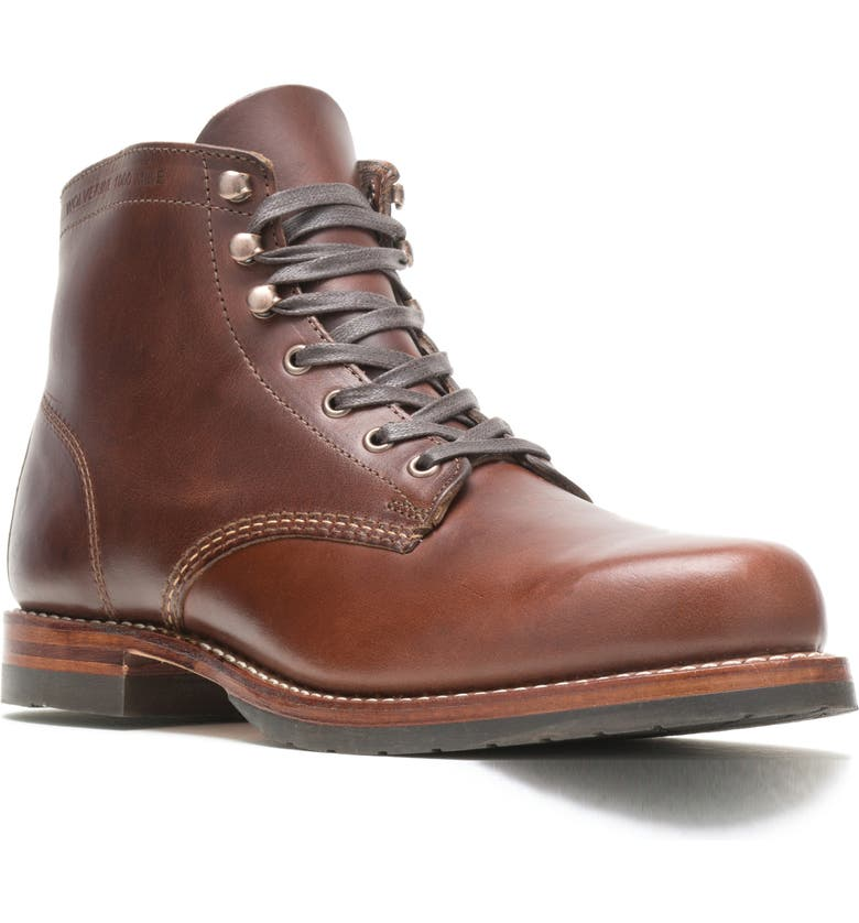 WOLVERINE 1000 Mile Evans Boot, Main, color, BROWN/ BROWN LEATHER