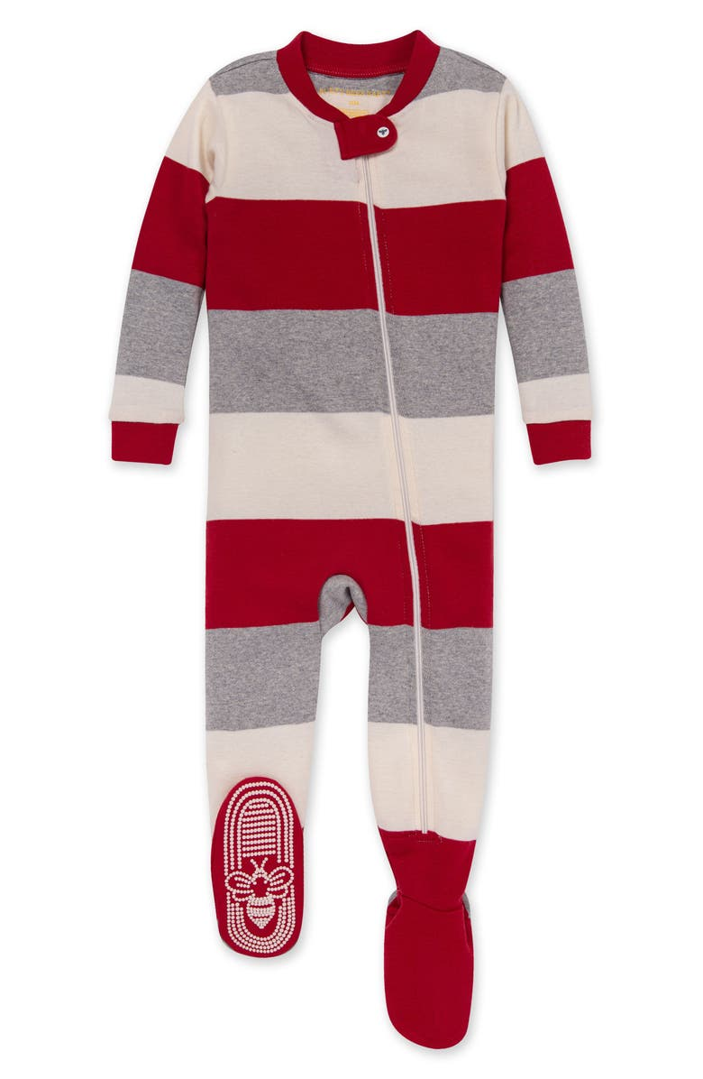 BURT'S BEES BABY Fitted Footie Pajamas, Main, color, CARDINAL