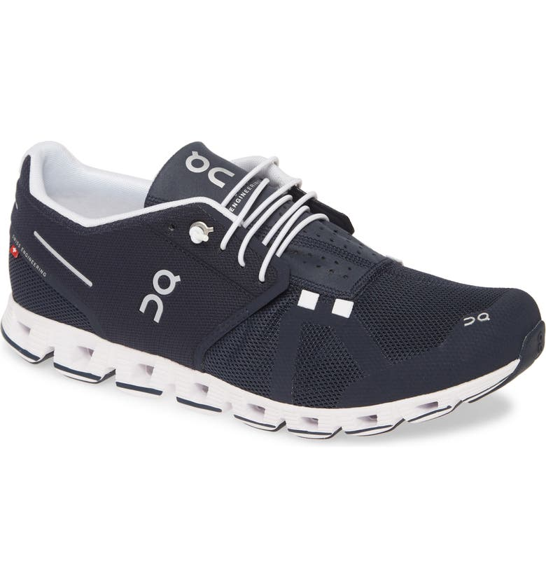 ON Cloud Running Shoe, Main, color, NAVY/ WHITE