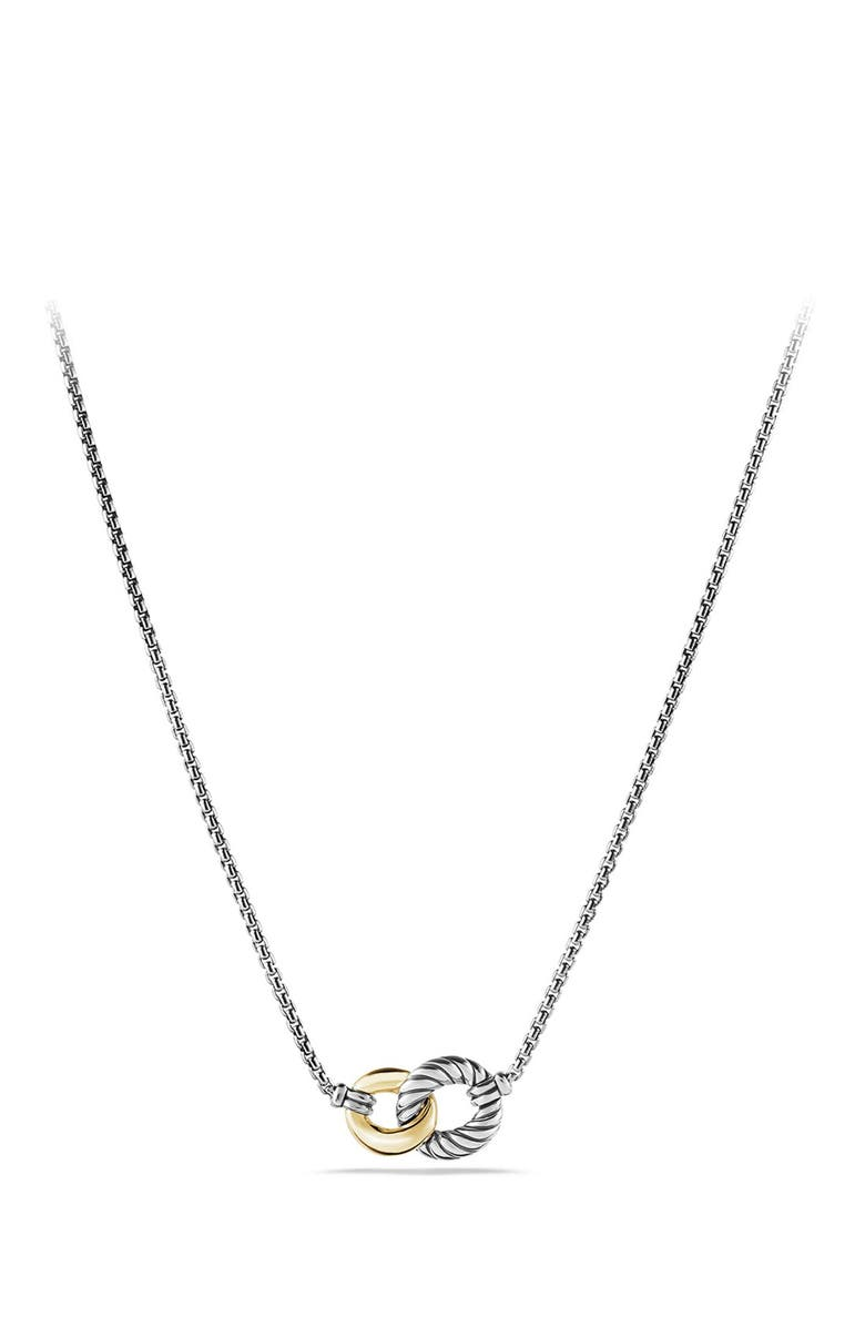 DAVID YURMAN Belmont Curb Link Necklace with 18K Gold, Main, color, TWO TONE