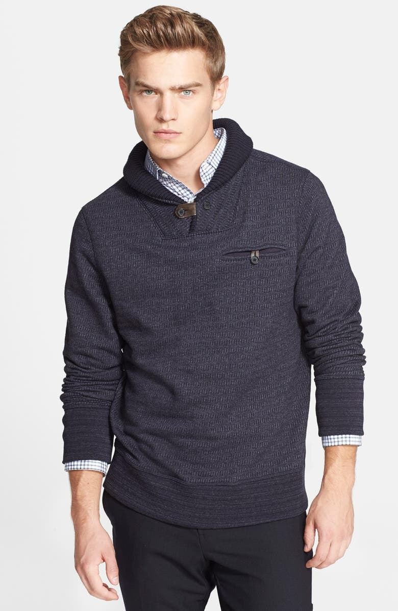 BILLY REID 'Shiloh' Shawl Collar Sweater, Main, color, 410