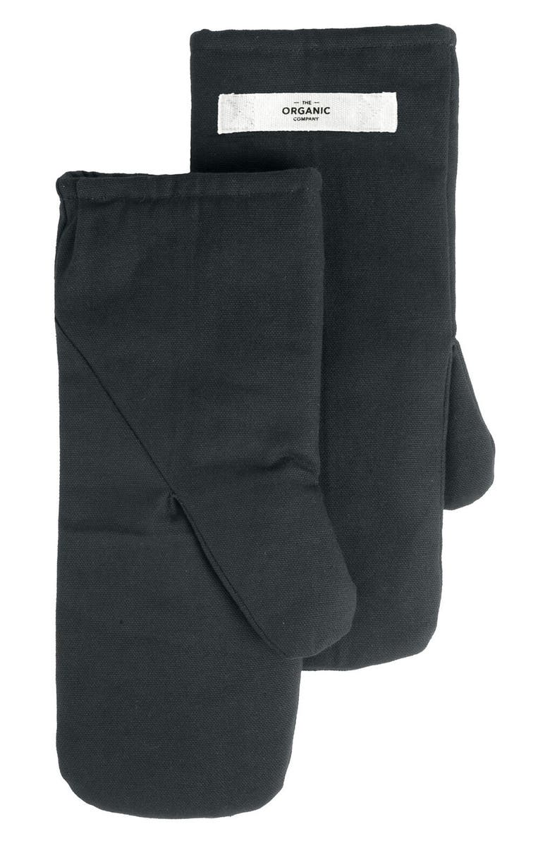 GOODEE x The Organic Company Organic Cotton Oven Mitts, Main, color, DARK GREY