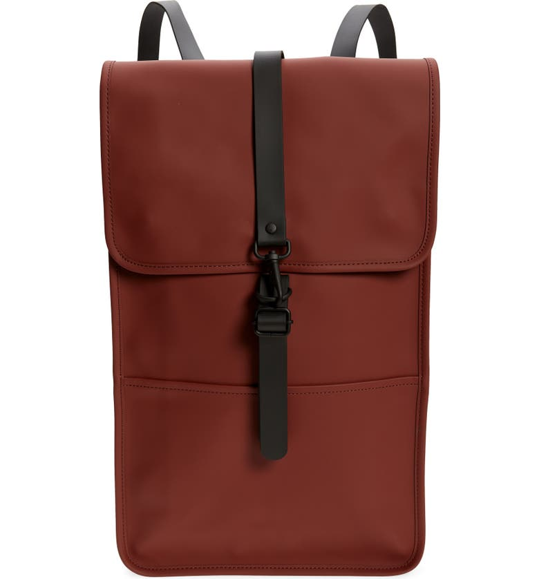 RAINS Waterproof Backpack, Main, color, MAROON