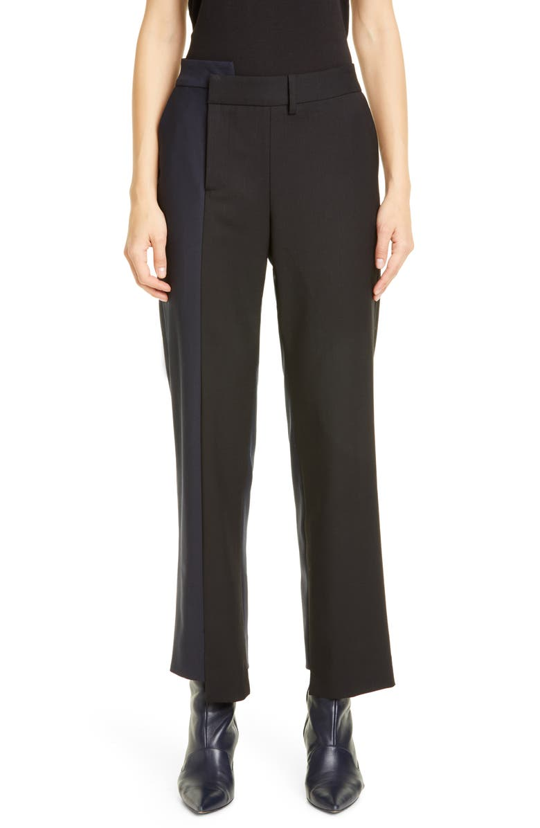 MONSE Two-Tone Stretch Wool Pants, Main, color, 007