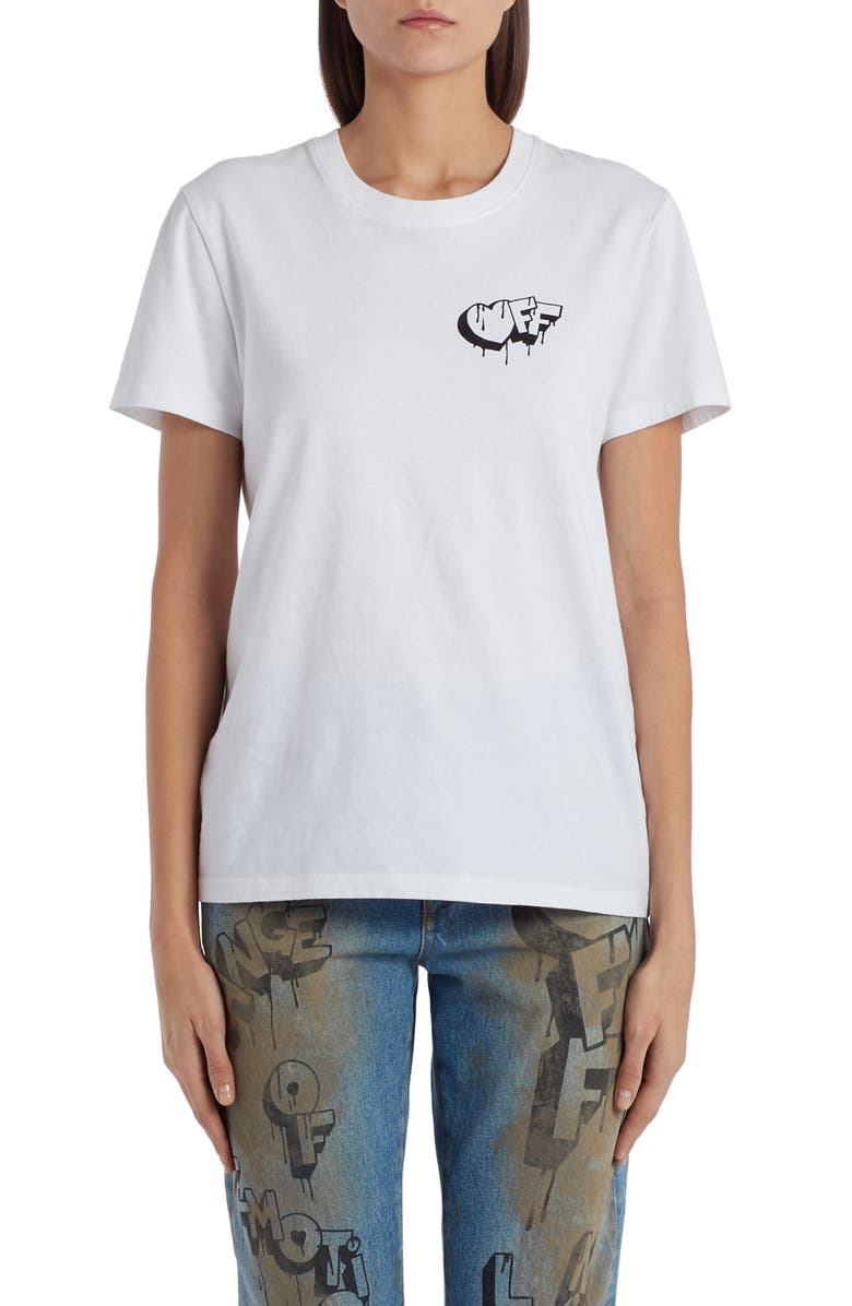 OFF-WHITE Markers Graphic Tee, Main, color, 100