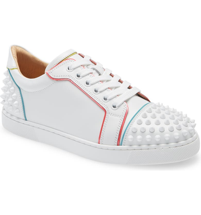 CHRISTIAN LOUBOUTIN Vieiraa 2 Spike Low Top Sneaker, Main, color, BIANCO/ MULIGHTI