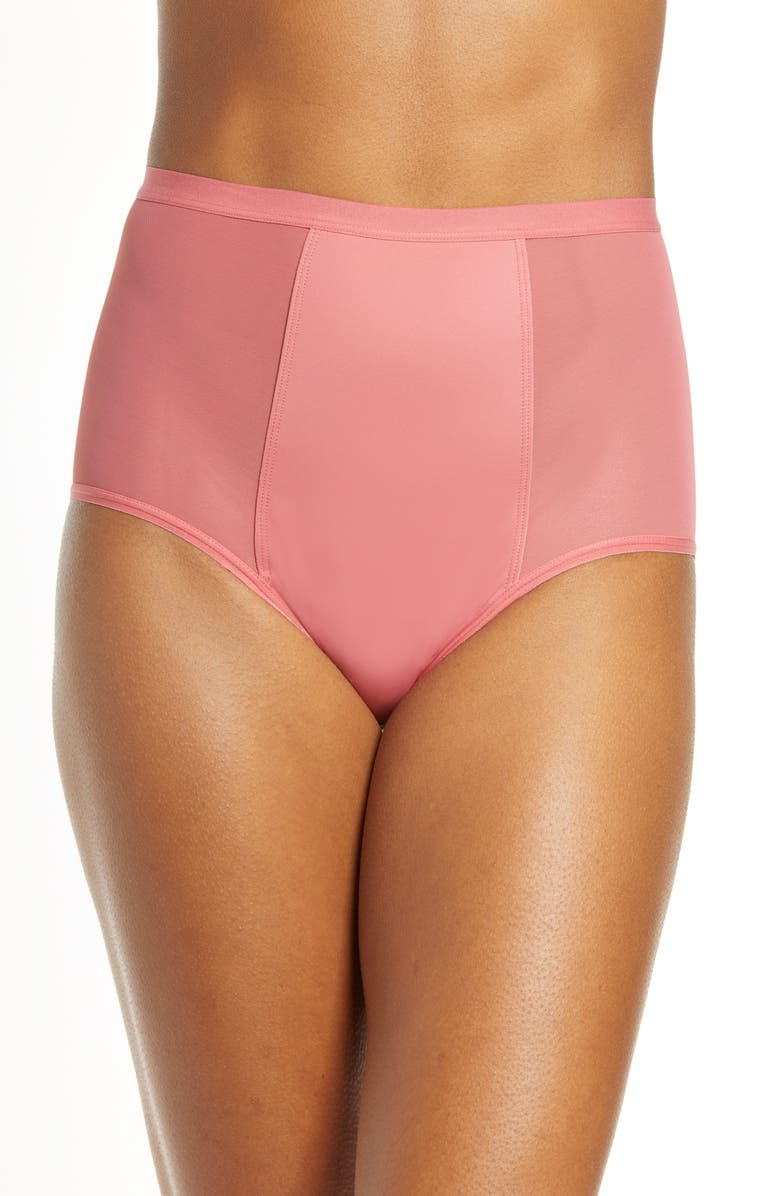 THINX High Waist Period Underwear, Main, color, GRAPEFRUIT