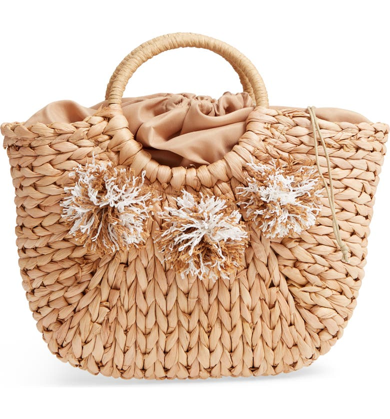 STREET LEVEL Woven Straw Tote, Main, color, 250