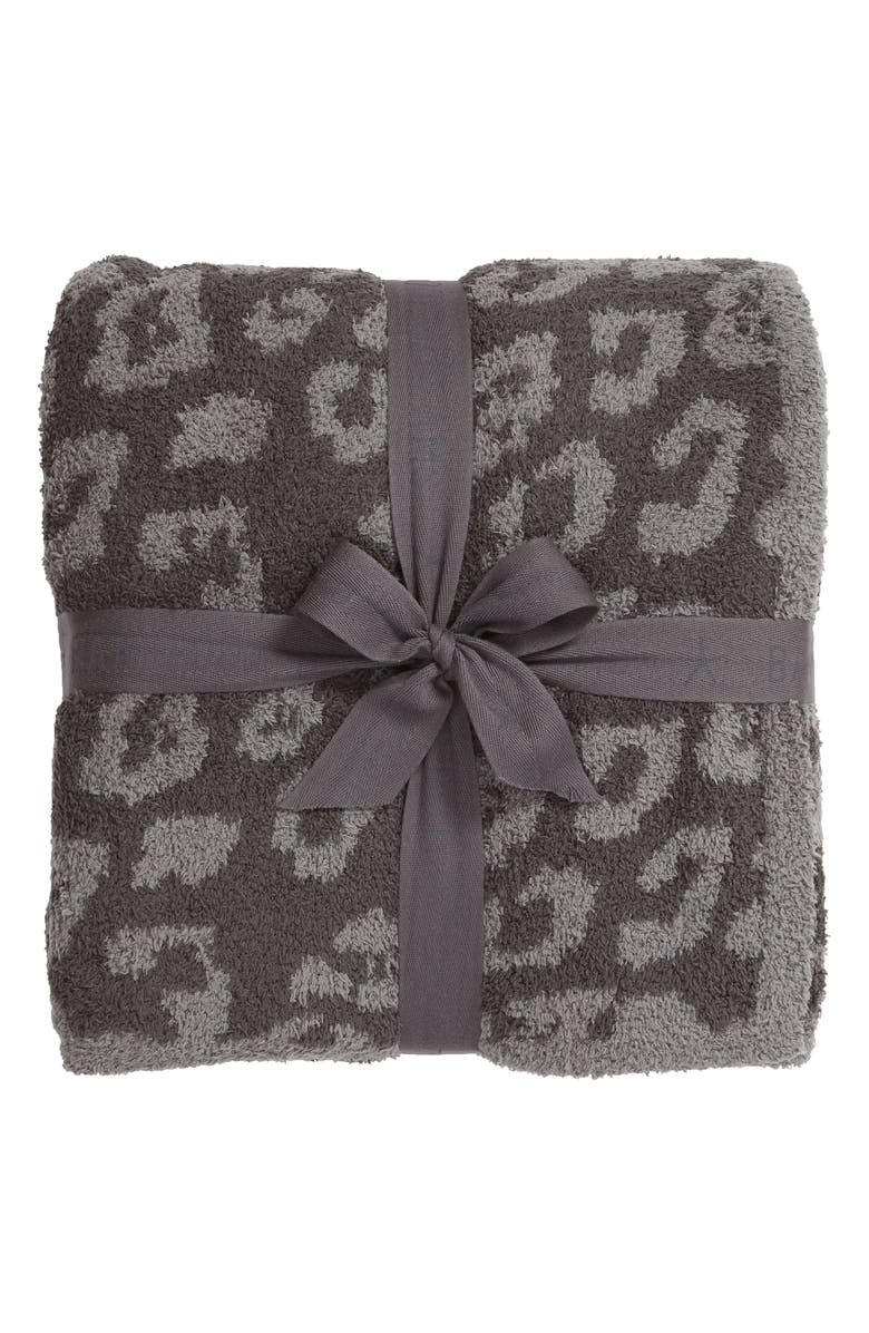 BAREFOOT DREAMS<SUP>®</SUP> In the Wild Throw Blanket, Main, color, GRAPHITE/ CARBON