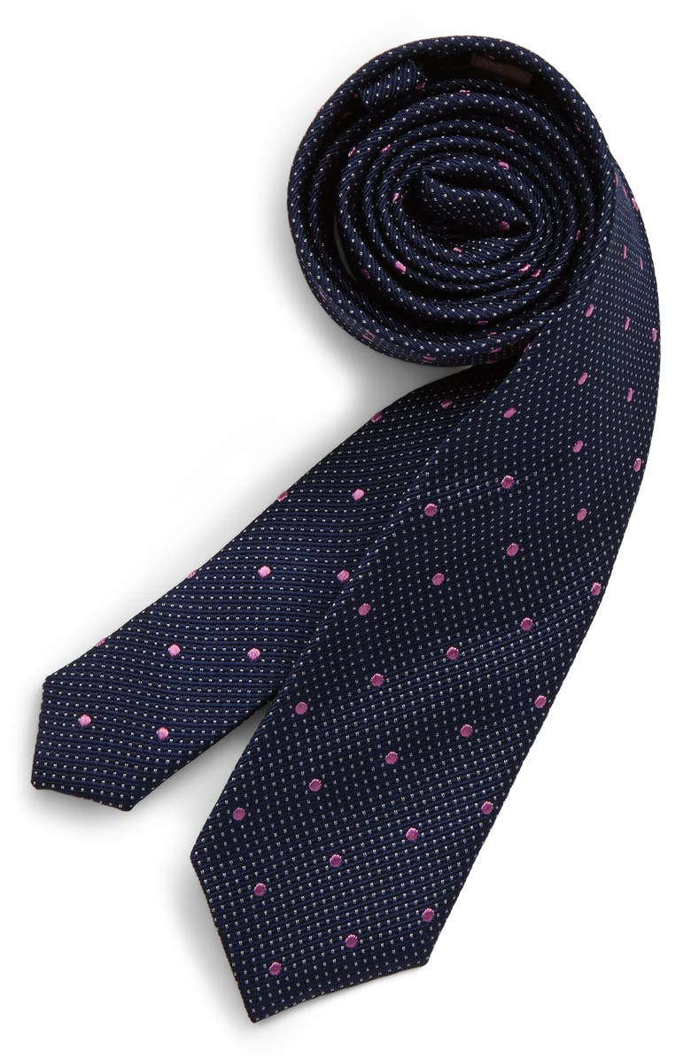 MICHAEL KORS Dot Silk Tie, Main, color, 410