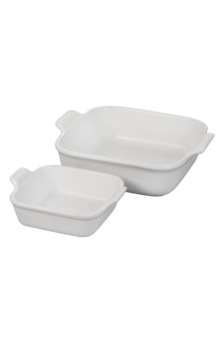 LE CREUSET Heritage Square Set of 2 Baking Dishes, Main, color, 100