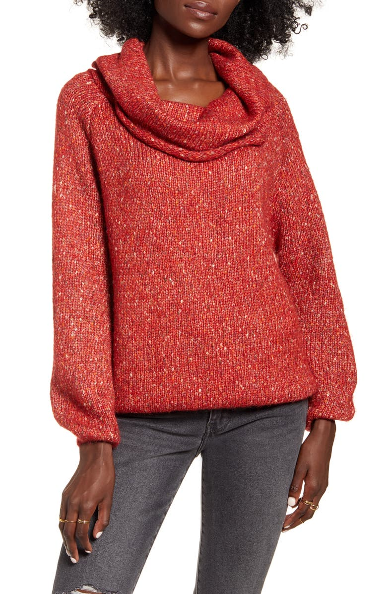DREAMERS BY DEBUT Cowl Neck Sweater, Main, color, 600