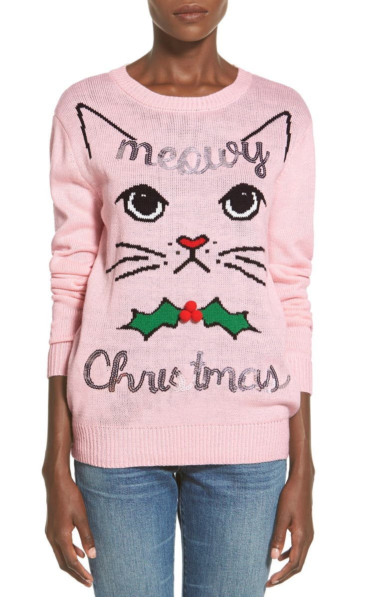 TEN SIXTY SHERMAN 'Meowy Christmas' Sweater, Main, color, 645
