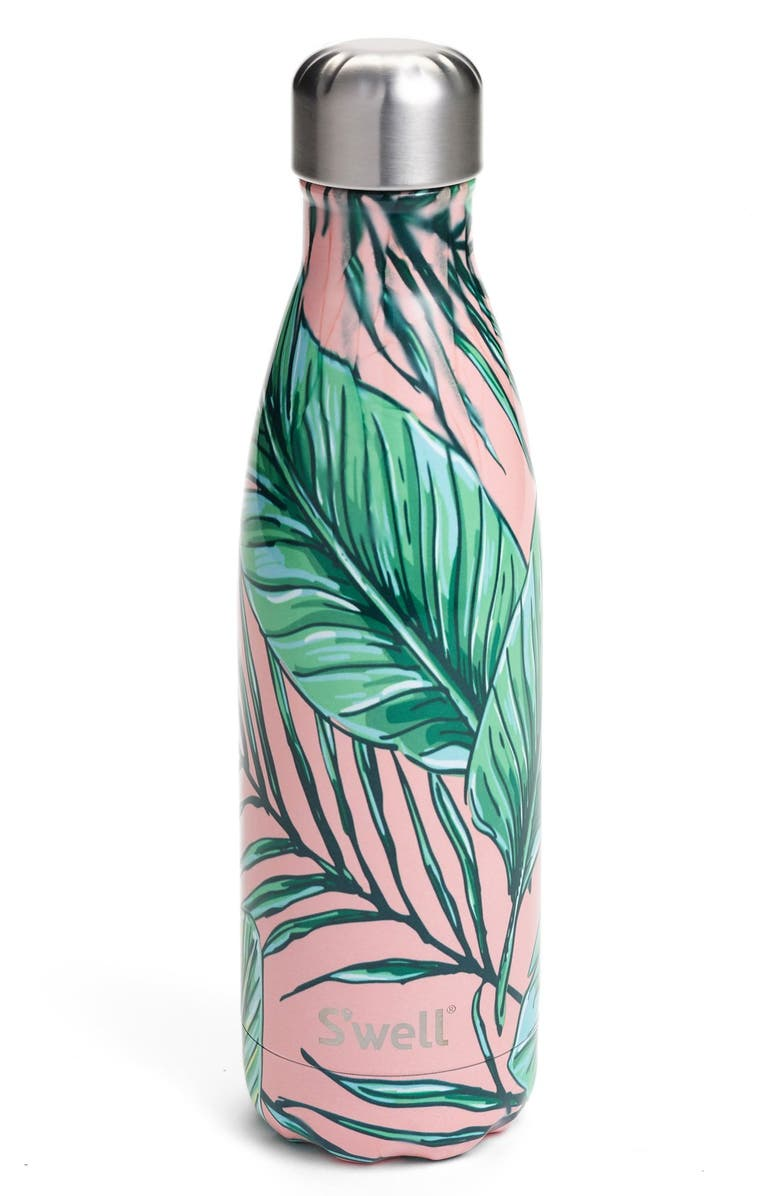 S'WELL Palm Beach Stainless Steel Water Bottle, Main, color, PALM BEACH