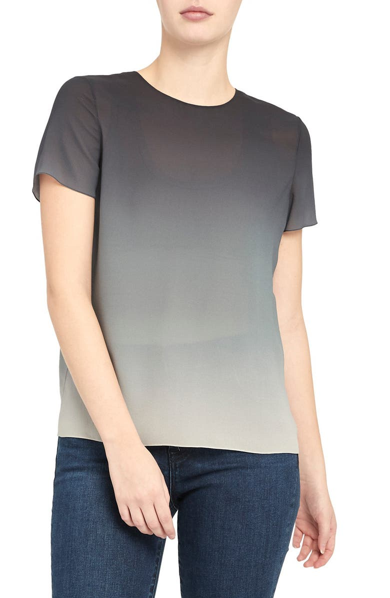 THEORY Ombré Silk Georgette Top, Main, color, 473