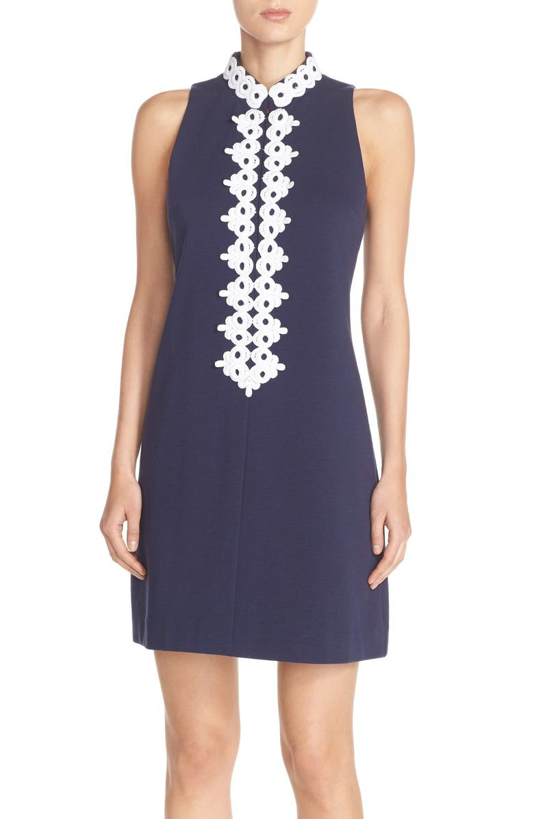 LILLY PULITZER<SUP>®</SUP> 'Callista' Ottoman Sheath Dress, Main, color, TRUE NAVY