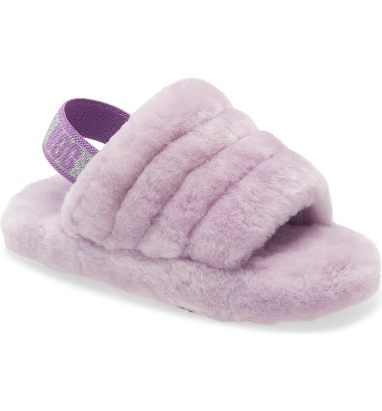 UGG<SUP>®</SUP> Fluff Yeah Slide Sandal, Main, color, LILAC FROST