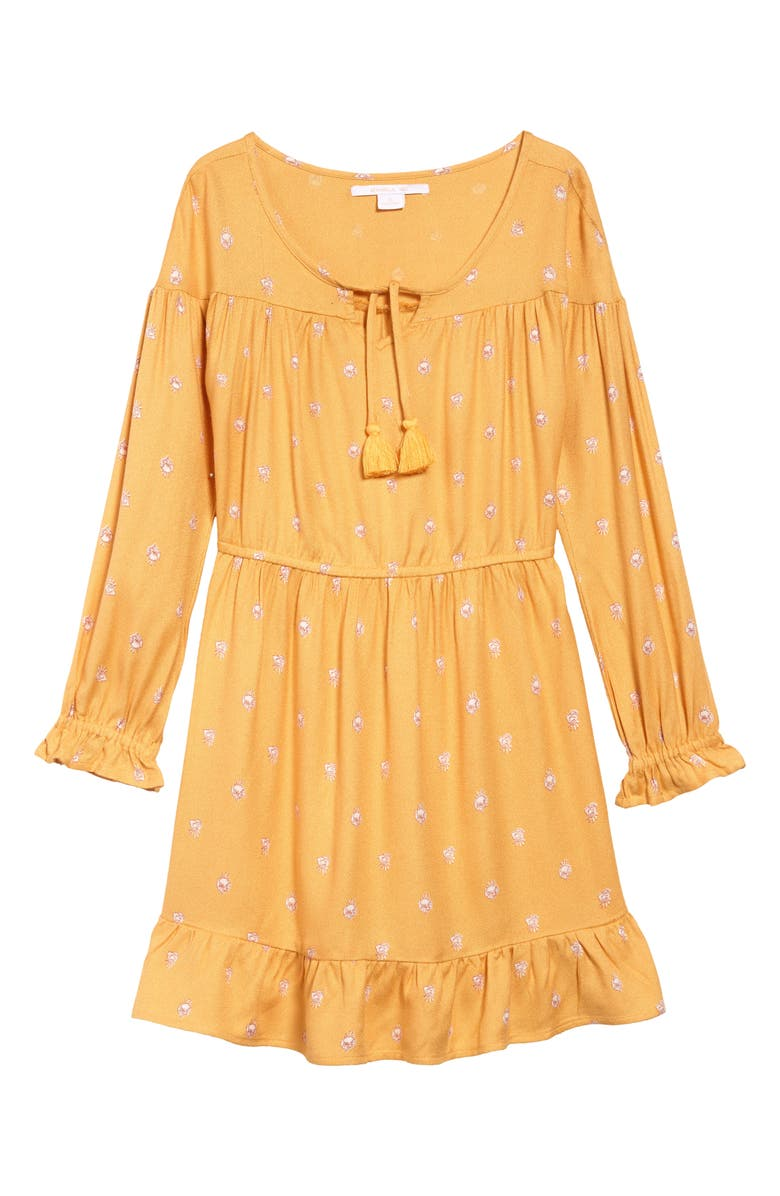 ONEILL Emilia Woven Dress, Main, color, GOLDIE