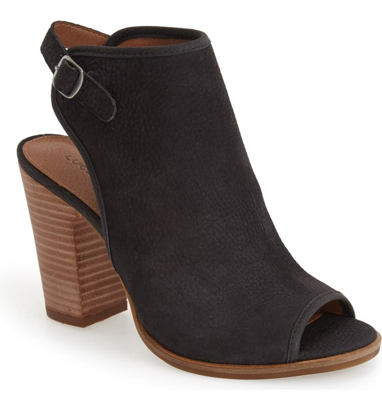 LUCKY BRAND 'Lisza' Open Toe Bootie, Main, color, 001