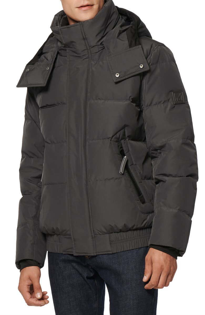 MARC NEW YORK Phoenix Water Resistant Down & Feather Coat, Main, color, CHARCOAL