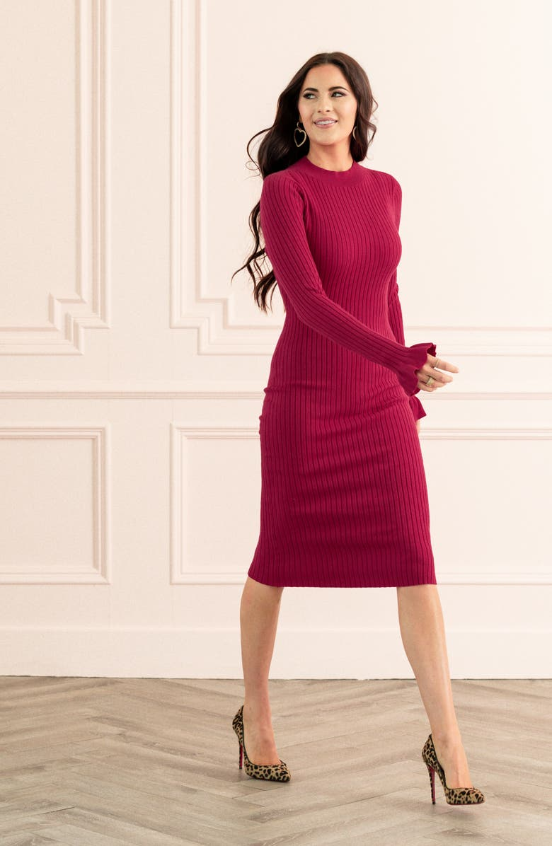 RACHEL PARCELL Rib Sweater Dress, Main, color, 610