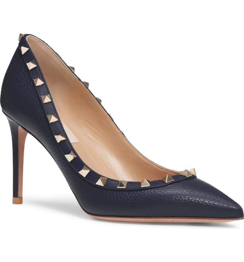 VALENTINO GARAVANI Rockstud Pointed Toe Pump, Main, color, 484
