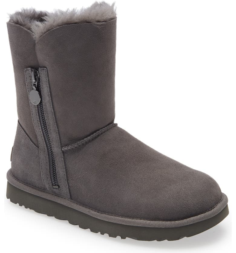 UGG<SUP>®</SUP> Bailey Short Boot, Main, color, GREY SUEDE