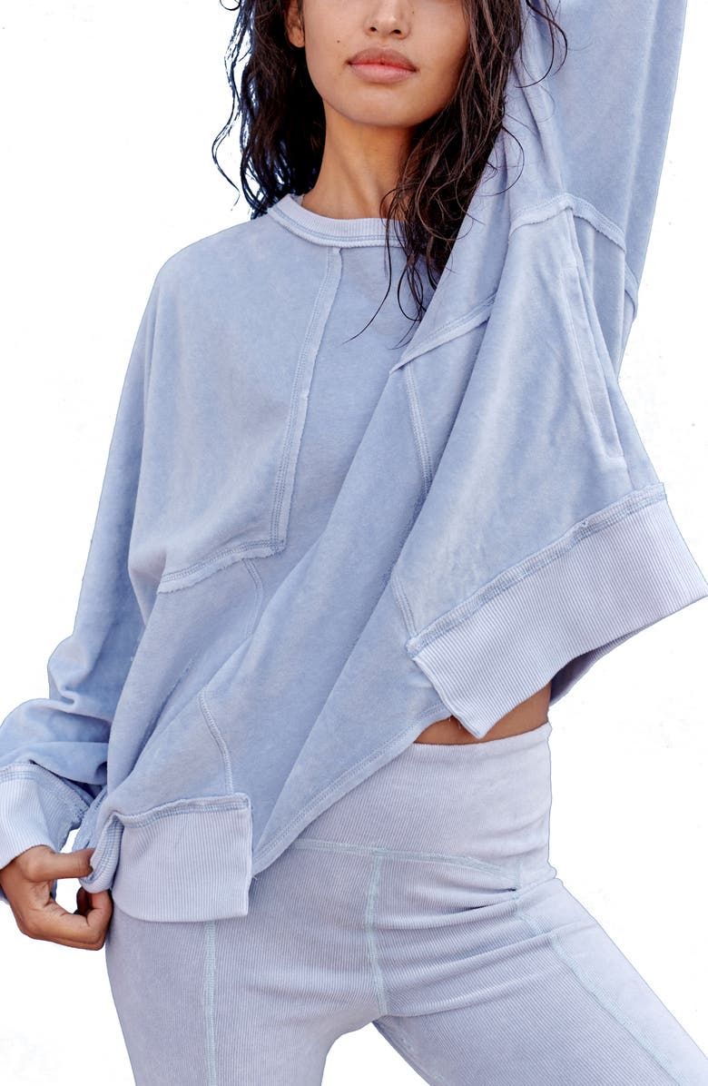 FP MOVEMENT Free People FP Movement Strive On Sweatshirt, Main, color, FADED PERIWINKLE