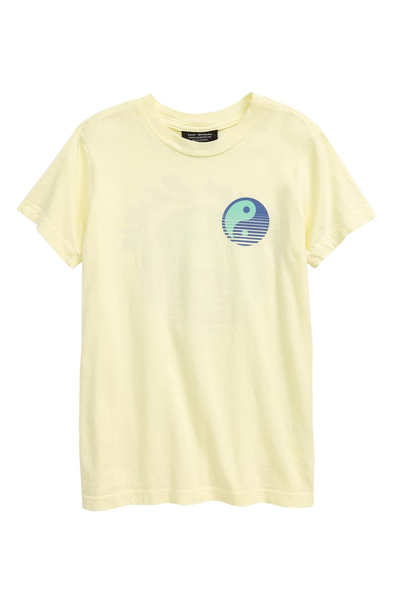 TINY WHALES Kids' Always Chillin' Graphic Tee, Main, color, YELLOW