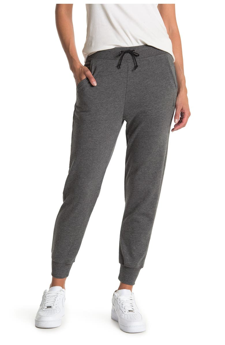 NIKE French Terry Sweatpants, Main, color, BLACK/DKSKGY