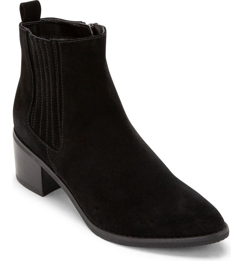 BLONDO Elvina Waterproof Bootie, Main, color, BLACK SUEDE