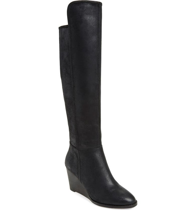 LUCKY BRAND 'Valeriy' Tall Boot, Main, color, BLACK LEATHER