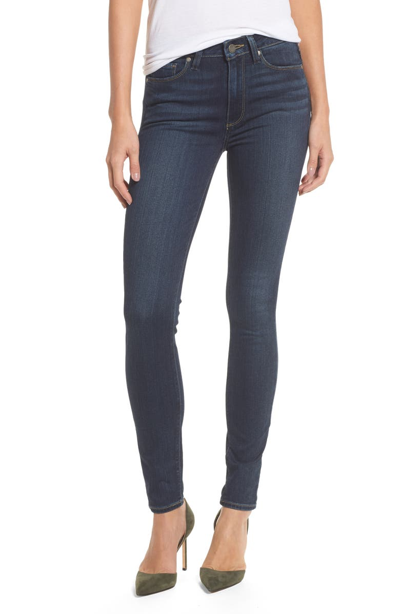 PAIGE Transcend - Hoxton High Waist Ultra Skinny Jeans, Main, color, 400