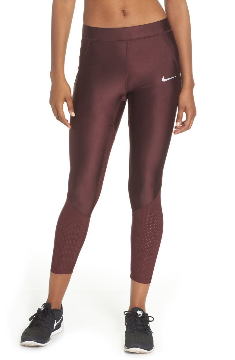 NIKE Speed Cool Running Tights, Main, color, BURGUNDY CRUSH