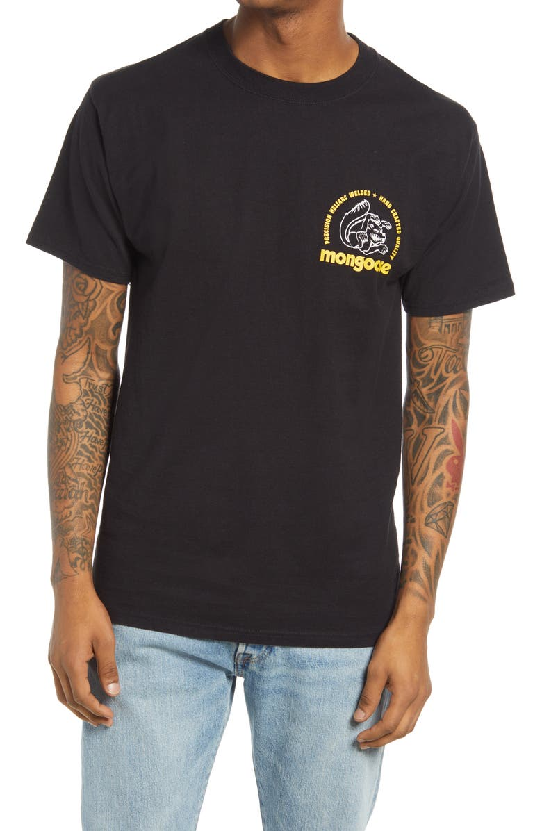 OUR LEGENDS Mongoose Winners Choice Men's Graphic Tee, Main, color, Black